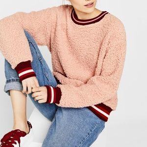Pink Fleece Sweatshirt/Sweater